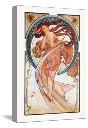 Dance-Alphonse Mucha-Stretched Canvas Print
