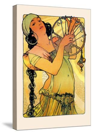 Salome-Alphonse Mucha-Stretched Canvas Print
