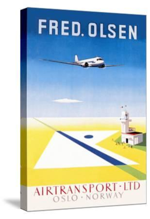 Fred. Olsen Air Transport Ltd. Oslo--Stretched Canvas Print