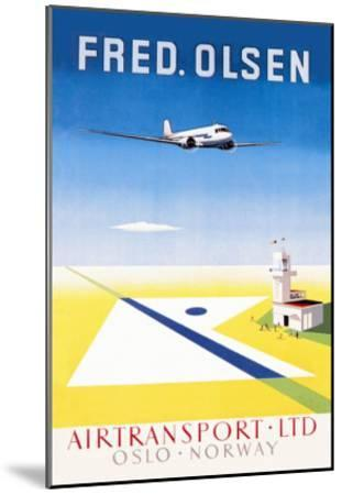 Fred. Olsen Air Transport Ltd. Oslo--Mounted Art Print