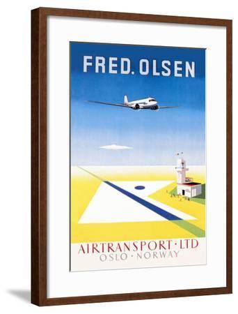 Fred. Olsen Air Transport Ltd. Oslo--Framed Art Print