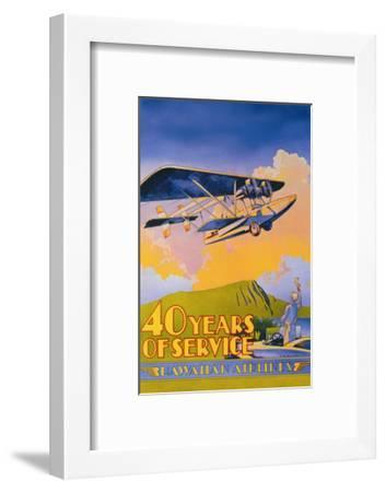 Hawaiian Airlines, 40 Years of Service-C^e^ White-Framed Art Print