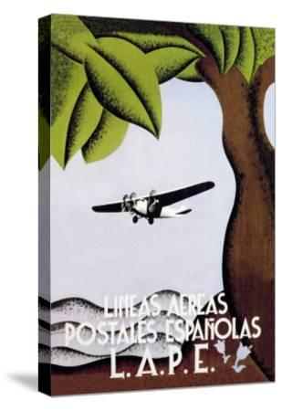 LAPE, Spanish Postal Airlines--Stretched Canvas Print