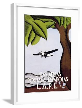 LAPE, Spanish Postal Airlines--Framed Art Print