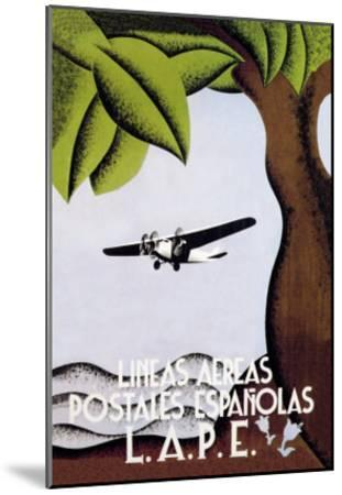 LAPE, Spanish Postal Airlines--Mounted Art Print