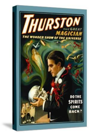 Thurston the Great Magician: Do the Spirits Come Back?--Stretched Canvas Print