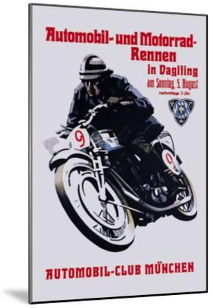 Automobile and Motorcycle Race, Munich--Mounted Art Print