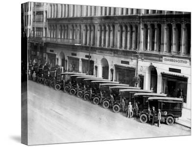 Strawbridge and Clothier Delivery Vans, Philadelphia, Pennsylvania--Stretched Canvas Print