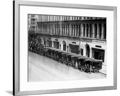 Strawbridge and Clothier Delivery Vans, Philadelphia, Pennsylvania--Framed Photo