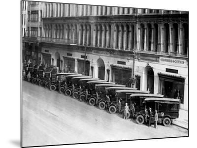 Strawbridge and Clothier Delivery Vans, Philadelphia, Pennsylvania--Mounted Photo