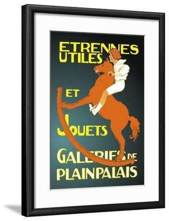 Galeries de Plainpalais: New Year's Gifts and Toys--Framed Art Print