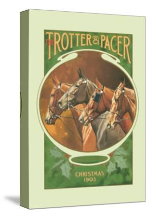 The Trotter and Pacer, Christmas 1903--Stretched Canvas Print