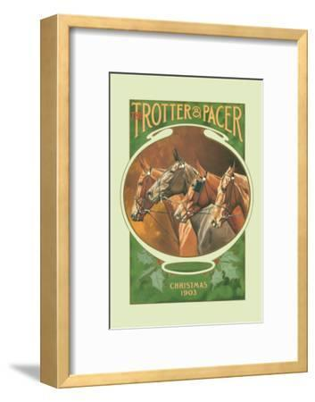 The Trotter and Pacer, Christmas 1903--Framed Art Print