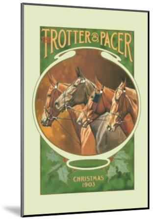 The Trotter and Pacer, Christmas 1903--Mounted Art Print
