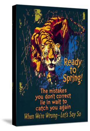 Ready to Spring!-Willard Frederic Elmes-Stretched Canvas Print