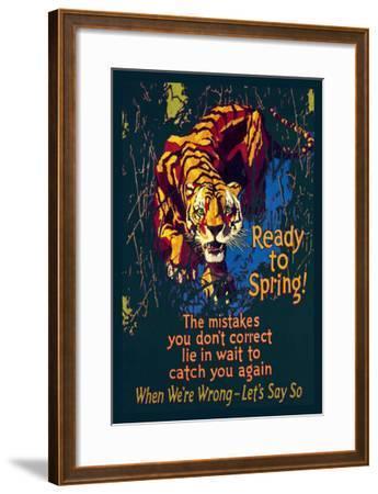 Ready to Spring!-Willard Frederic Elmes-Framed Art Print