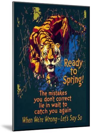 Ready to Spring!-Willard Frederic Elmes-Mounted Art Print