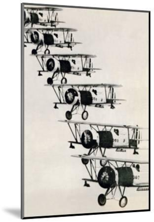 Flying in Formation--Mounted Art Print