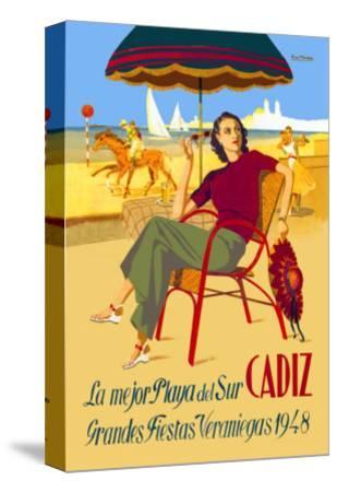 Cadiz, La Mejor Playa del Sur--Stretched Canvas Print