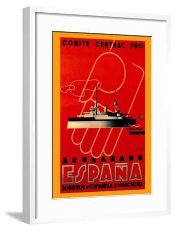 Comite Central Pro, Acorazado Espana-Henry Ballesteros-Framed Art Print