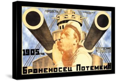 Battleship Potemkin 1905-Anton Lavinsky-Stretched Canvas Print
