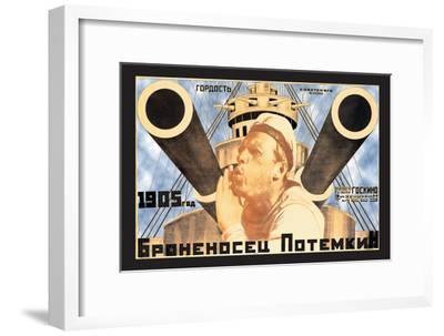 Battleship Potemkin 1905-Anton Lavinsky-Framed Art Print