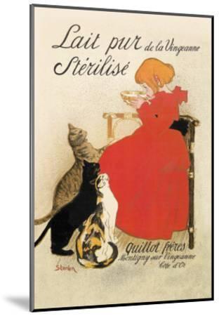 Lait Pur de la Vingeanne Sterilise-Th?ophile Alexandre Steinlen-Mounted Art Print