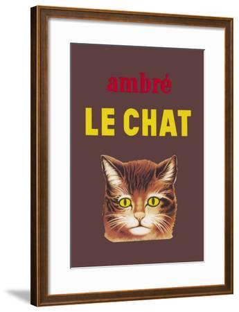 Ambre le Chat--Framed Art Print