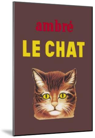 Ambre le Chat--Mounted Art Print