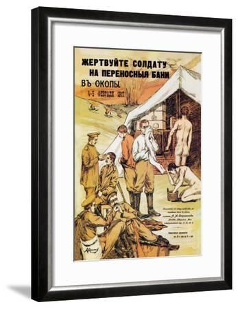 Donate for Soldier's Portable Trench Baths--Framed Art Print