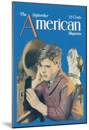 American Magazine: Canine Tuning--Mounted Art Print