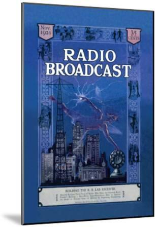 Radio Broadcast, Building the R.B. Lab Receiver--Mounted Art Print