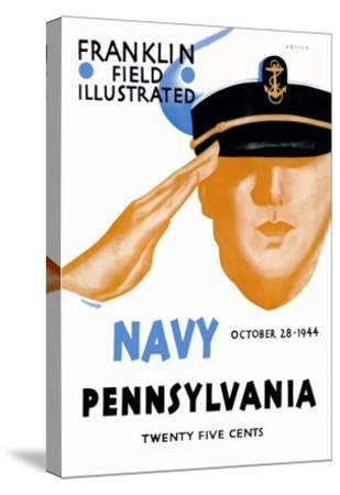 Navy vs. Pennslyvania--Stretched Canvas Print