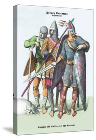 French Costumes: Knights and Soldiers of the Crusades--Stretched Canvas Print