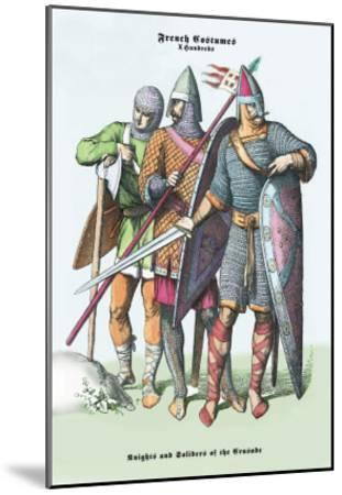 French Costumes: Knights and Soldiers of the Crusades--Mounted Art Print