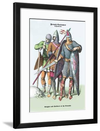 French Costumes: Knights and Soldiers of the Crusades--Framed Art Print