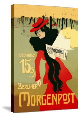 Berliner Morganpost-Howard Pyle-Stretched Canvas Print