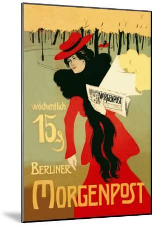 Berliner Morganpost-Howard Pyle-Mounted Art Print