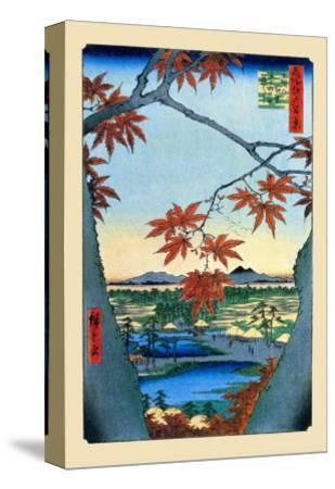 The Maple Trees-Ando Hiroshige-Stretched Canvas Print