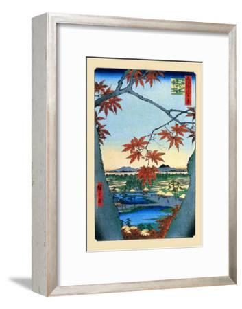 The Maple Trees-Ando Hiroshige-Framed Art Print