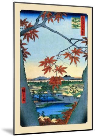 The Maple Trees-Ando Hiroshige-Mounted Art Print