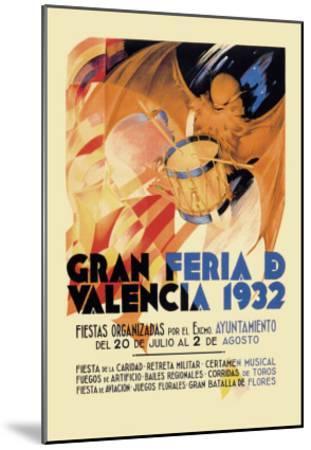 Gran Feria de Valencia 1932--Mounted Art Print