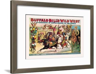 Buffalo Bill: The Real Sons of the Soudan--Framed Art Print