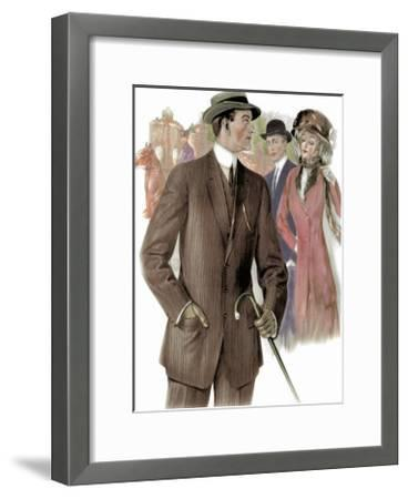 3 Button Sack for a Walk--Framed Art Print