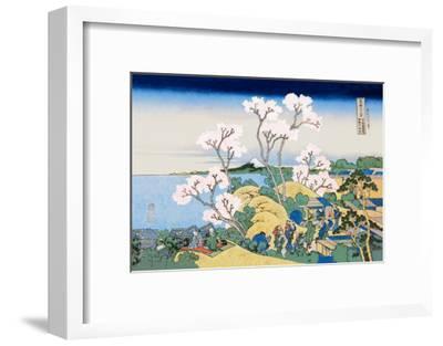 Cherry Blossom Festival-Katsushika Hokusai-Framed Art Print