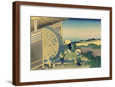 Mill Facing Mount Fuji-Katsushika Hokusai-Framed Art Print