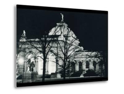Memorial Hall Philadelphia at Night--Metal Print