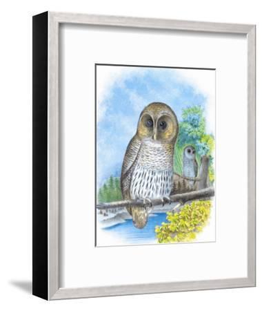 The Barred Owl-Theodore Jasper-Framed Art Print