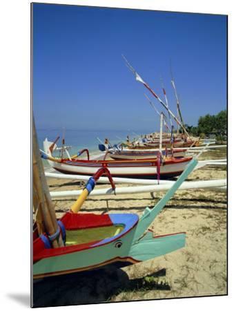 Prahu, Colourful Local Boats, on Sanur Beach, Bali, Indonesia-Robert Harding-Mounted Photographic Print