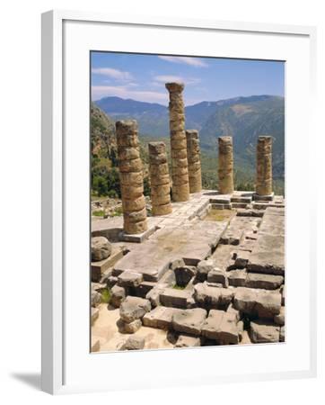 Temple of Apollo, Delphi, Greece, Europe-Ken Gillham-Framed Photographic Print